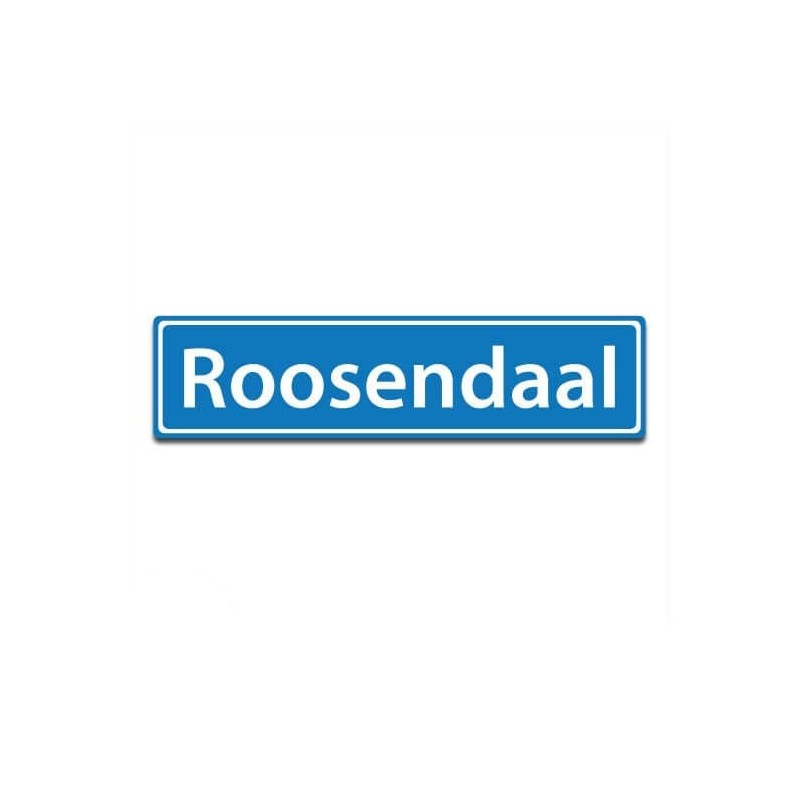 Plaatsnaam sticker Roosendaal