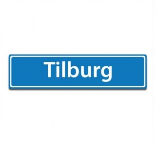 Plaatsnaam sticker Tilburg