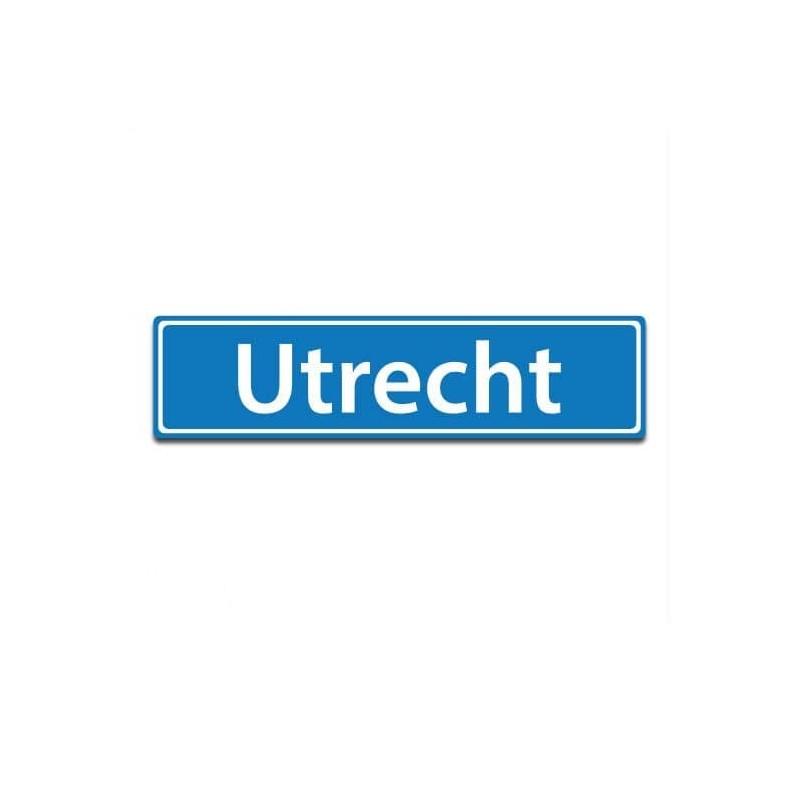 Plaatsnaam sticker Utrecht