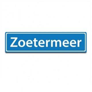 Plaatsnaam sticker Zoetermeer