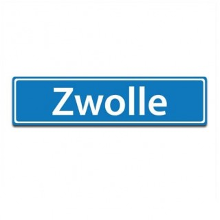 Plaatsnaam sticker Zwolle
