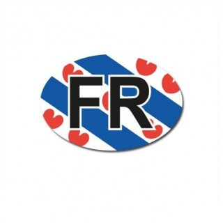 Friesland auto provincie sticker
