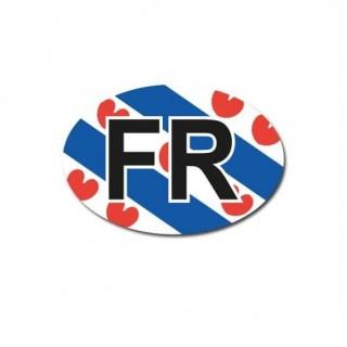 Friesland auto provincie sticker