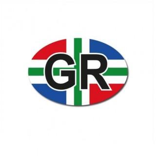 Groningen auto provincie sticker