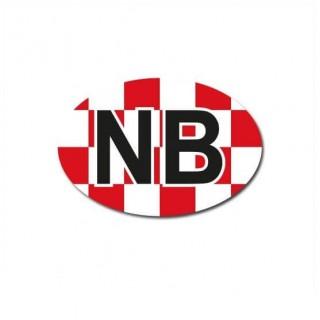 Noord-Brabant auto provincie sticker