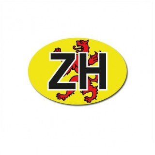Zuid-Holland auto provincie sticker