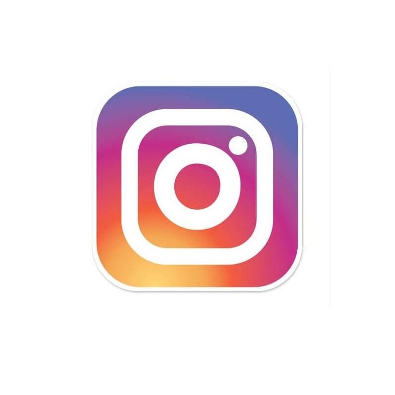 Instagram logo sticker set