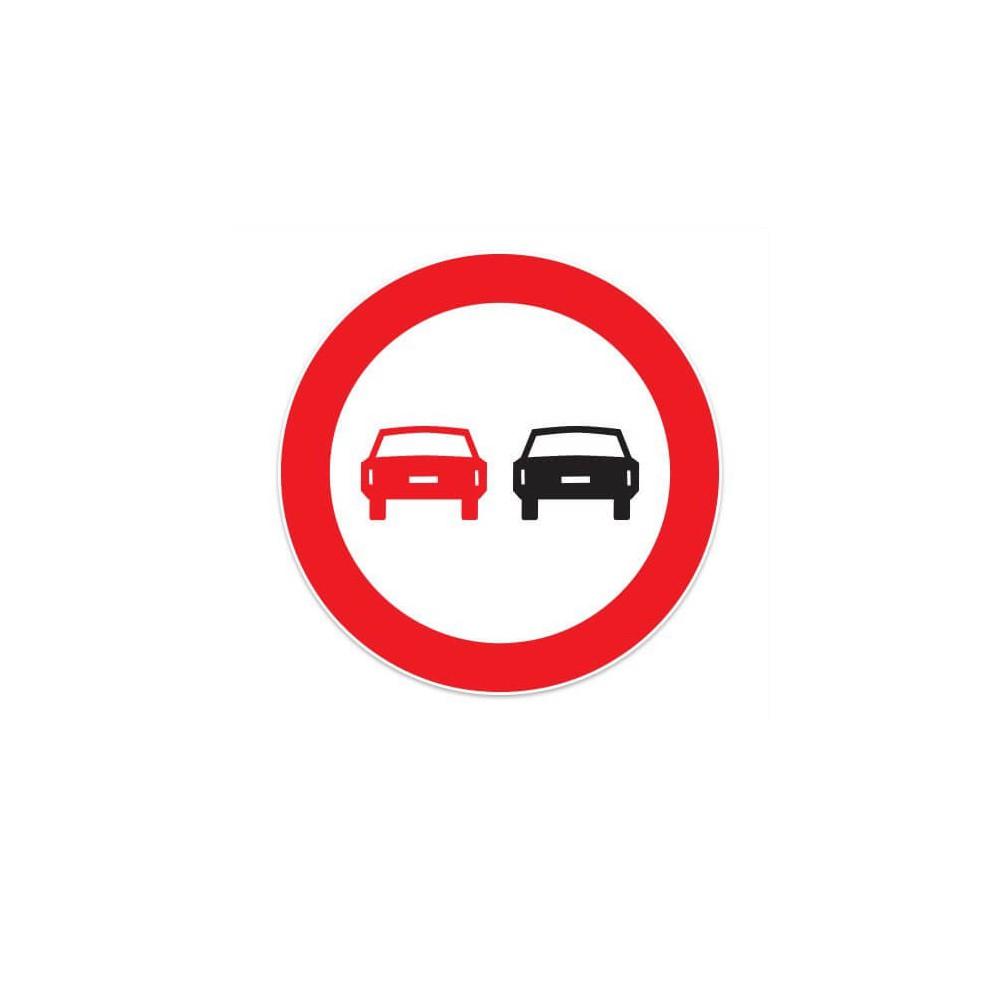 Verboden in te halen Sticker
