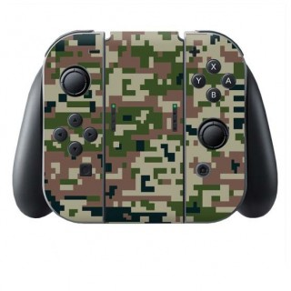 Digital Camo Forest Switch Joy-Con + Grip Skin