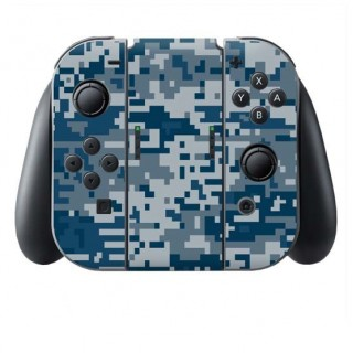 Digital Camo Rain Switch Joy-Con + Grip Skin