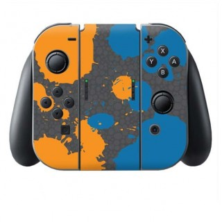 Splat Orange Blue Switch Joy-Con + Grip Skin