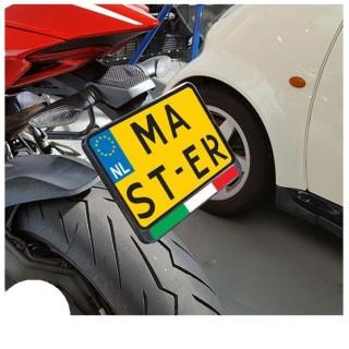 Vlag Italië Kenteken Sticker Motor