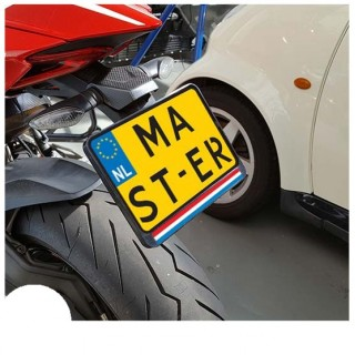 Vlag Nederland Kenteken Sticker Motor
