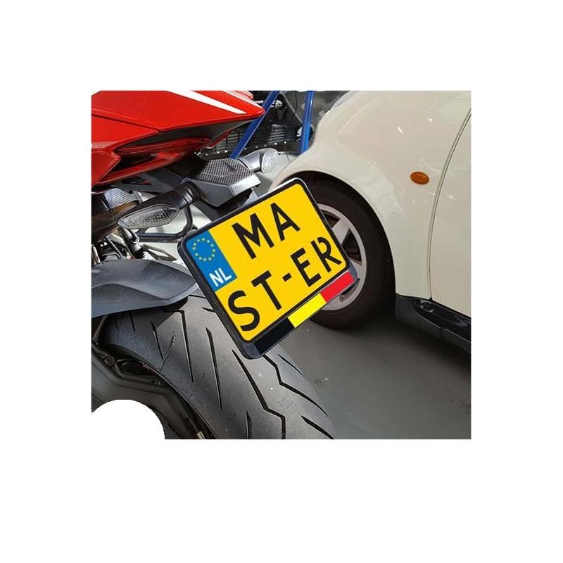 Vlag België Kenteken Sticker Motor