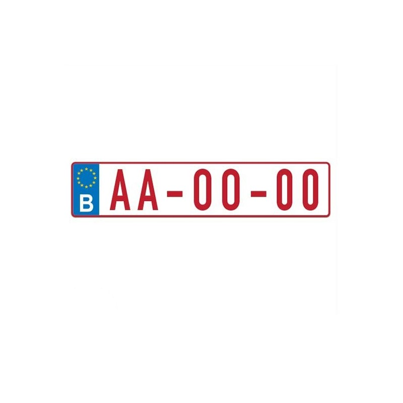 Kentekensticker België Groot Sticker Eigen Naam