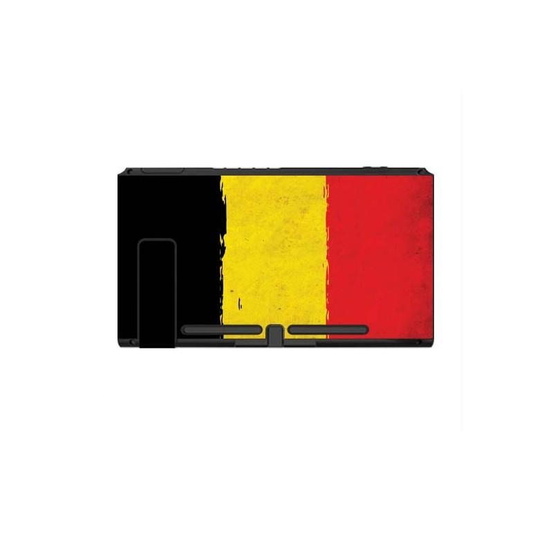 Nintendo Switch Skin Grunge Vlag Belgie