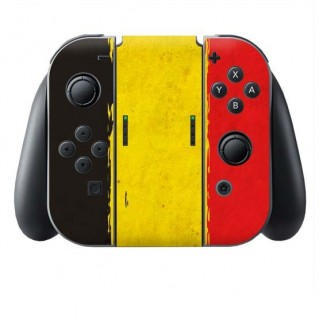 Grunge Vlag Belgie Switch Joy-Con + Grip Skin