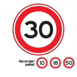 A01 maximumsnelheid verkeersbord sticker