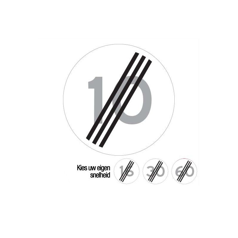 A02 einde maximumsnelheid verkeersbord sticker