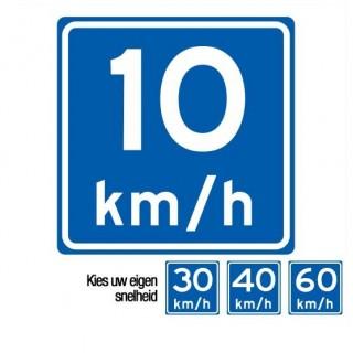 A04 adviessnelheid verkeersbord sticker