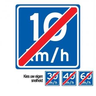 A05 einde adviessnelheid verkeersbord sticker