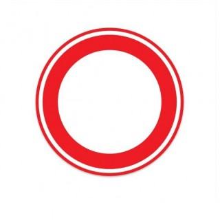 C01 gesloten voor beide richtingen verkeersbord sticker