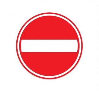 C02 eenrichtingweg deze richting gesloten verkeersbord sticker