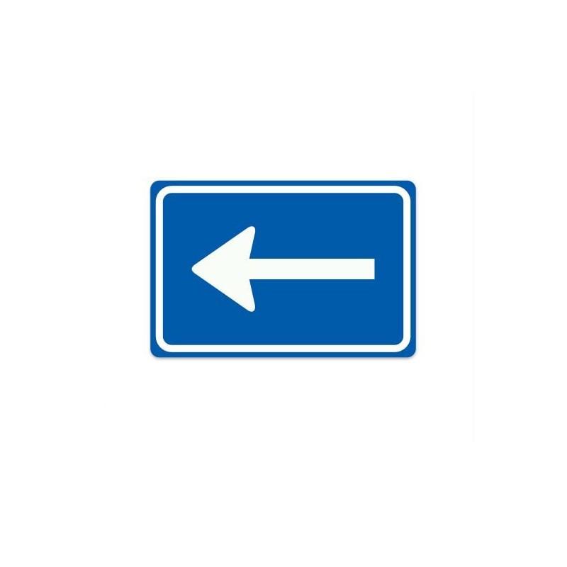 C04-L eenrichtingsweg links verkeersbord sticker