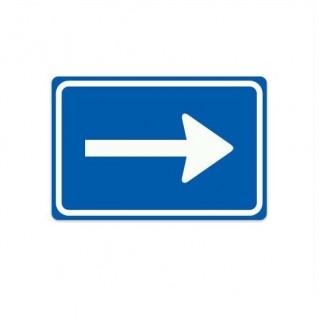 C04-R eenrichtingsweg rechts verkeersbord sticker