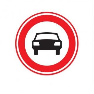 C06 Gesloten voor motorvoertuigen op meer dan twee wielen verkeersbord sticker