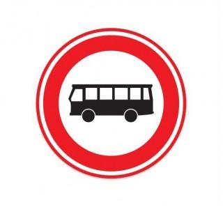 C07A Gesloten voor autobussen verkeersbord sticker