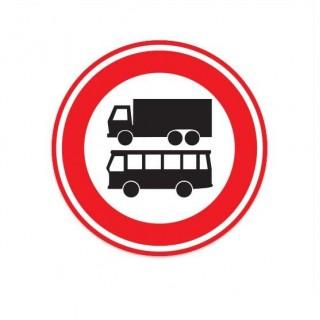 C07B Gesloten voor autobussen en vrachtauto's verkeersbord sticker