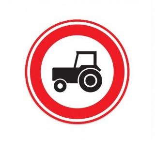 C08 Gesloten tractors voor verkeersbord sticker