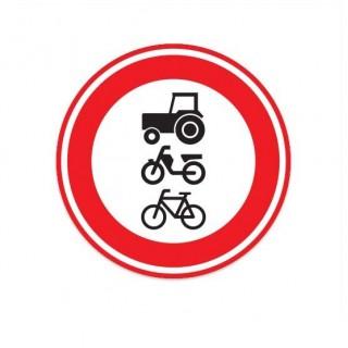 C09 Gesloten voor tractors bromfietsen en fietsen verkeersbord sticker