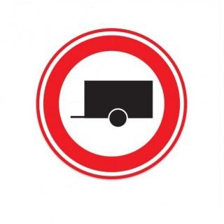 C10 Gesloten voor motorvoertuigen met aanhangwagen verkeersbord sticker