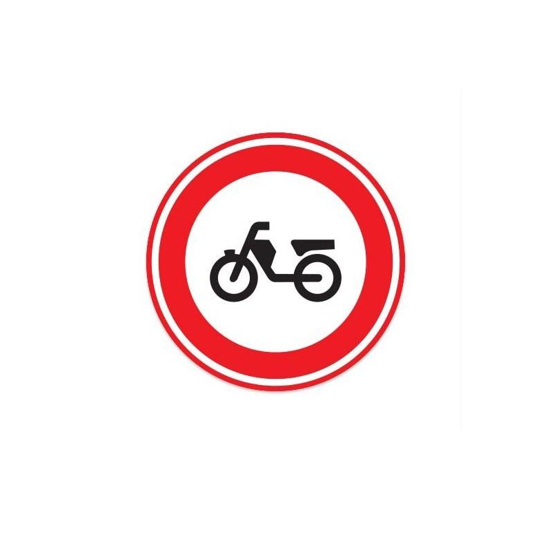 C13 Gesloten voor bromfietsen verkeersbord sticker