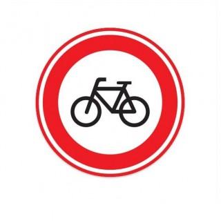 C14 Gesloten voor fietsen verkeersbord sticker