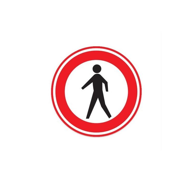C16 Gesloten voor voetgangers verkeersbord sticker