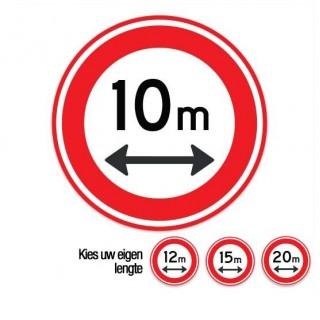 C17 Gesloten voor voertuigen boven deze lengte verkeersbord sticker