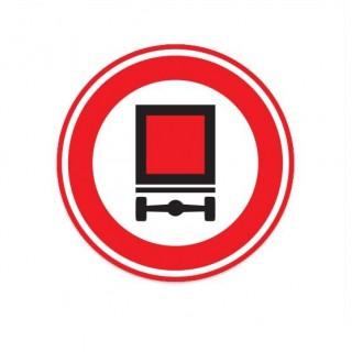 C22 Gesloten voertuigen gevaarlijke stoffen verkeersbord sticker