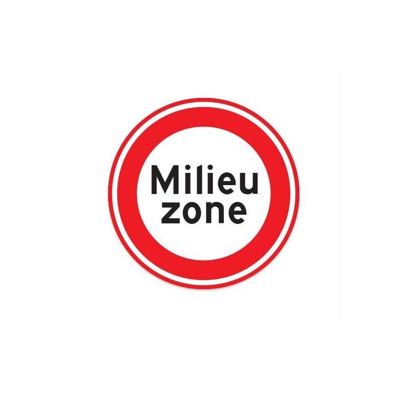 C22A Milieu Zone verkeersbord sticker