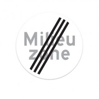 C22B Einde Milieu Zone verkeersbord sticker