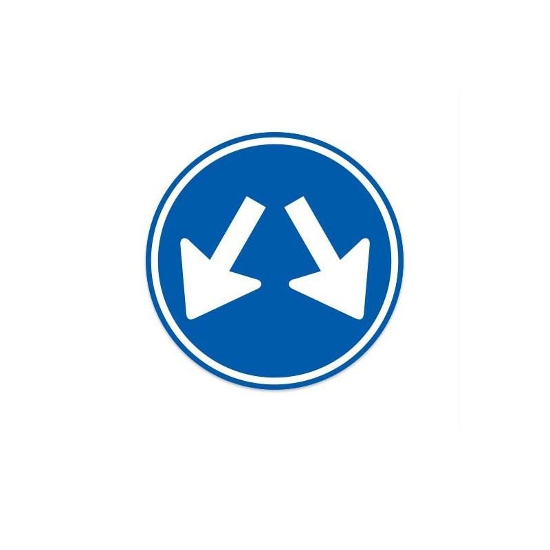 D03 Voorbij gaan aan deze zijdes verkeersbord sticker