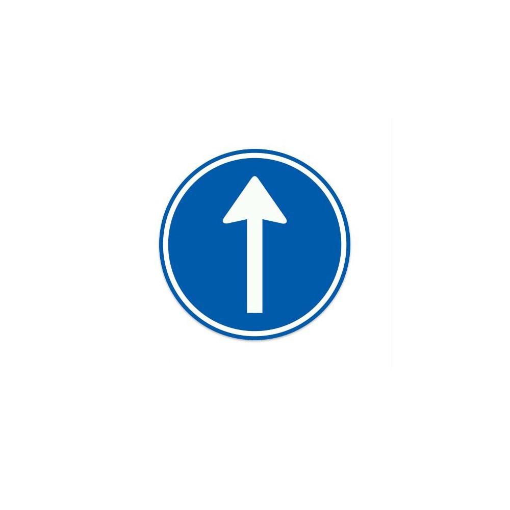 D04 Gebod tot het volgen van de aangegeven rijrichting