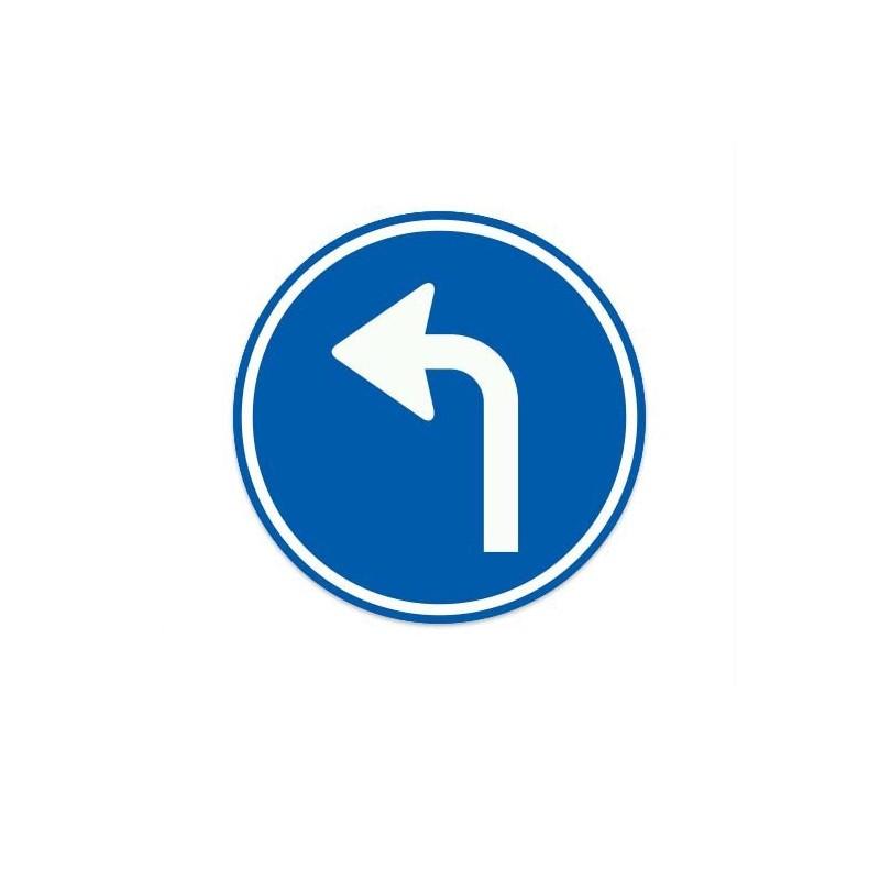 D05-L Gebod tot het volgen van de aangegeven rijrichting verkeersbord sticker
