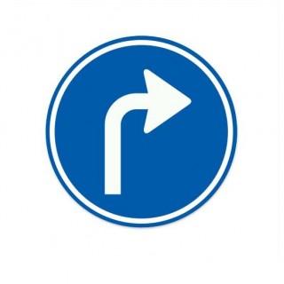D05-R Gebod tot het volgen van de aangegeven rijrichting verkeersbord sticker