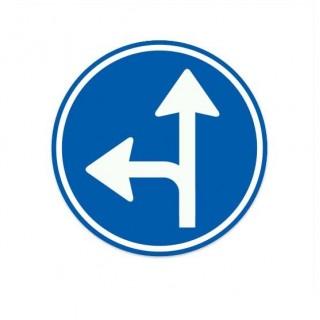 D06-L Gebod tot het volgen van een van de aangegeven rijrichtingen verkeersbord sticker