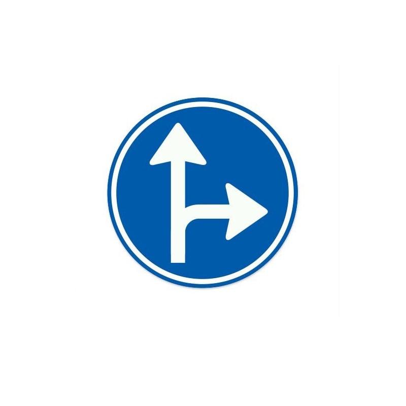 D06-R Gebod tot het volgen van een van de aangegeven rijrichtingen verkeersbord sticker