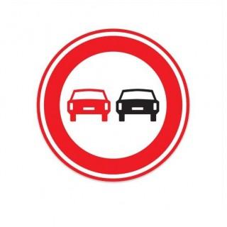 F01 Verbod voor motorvoertuigen om elkaar in te halen verkeersbord sticker