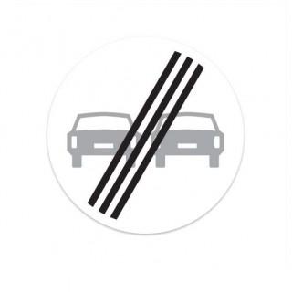 F02 Einde verbod voor motorvoertuigen om elkaar in te halen verkeersbord sticker